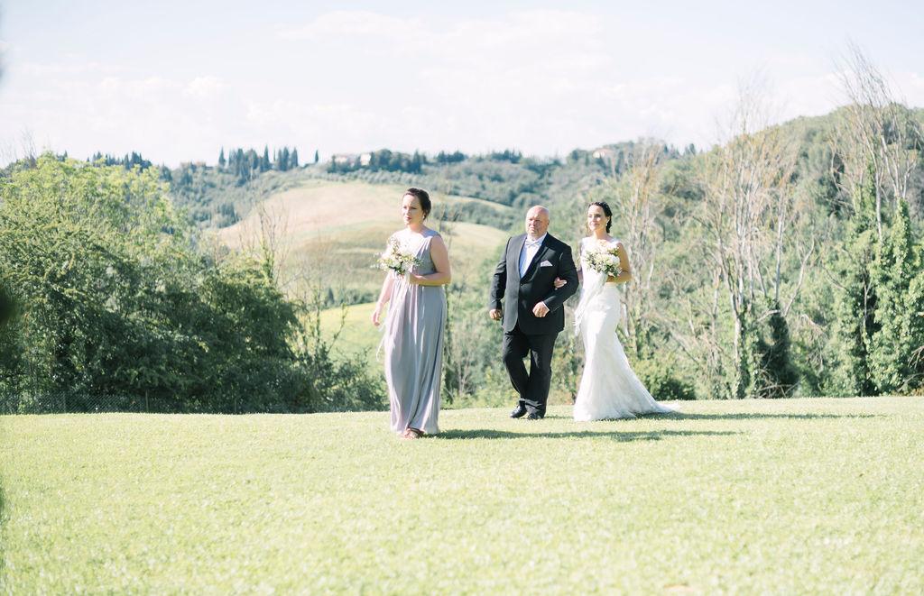 Vigsel utomhus Toscana