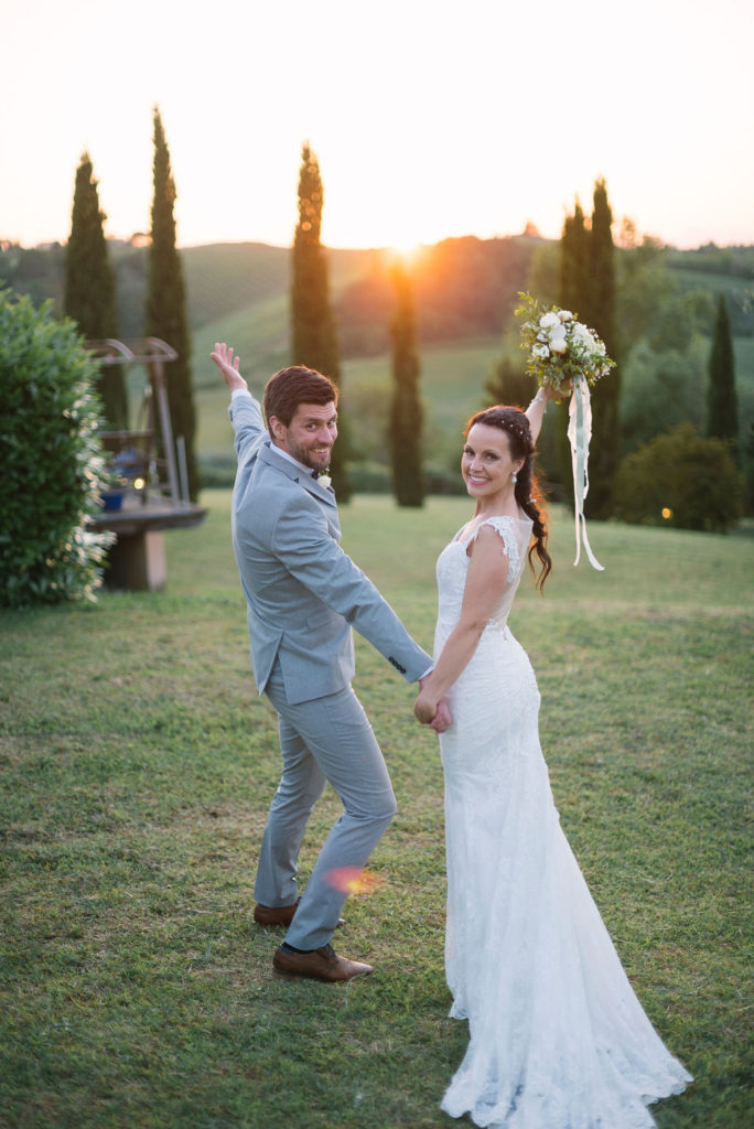 Golden hour Tuscanywedding