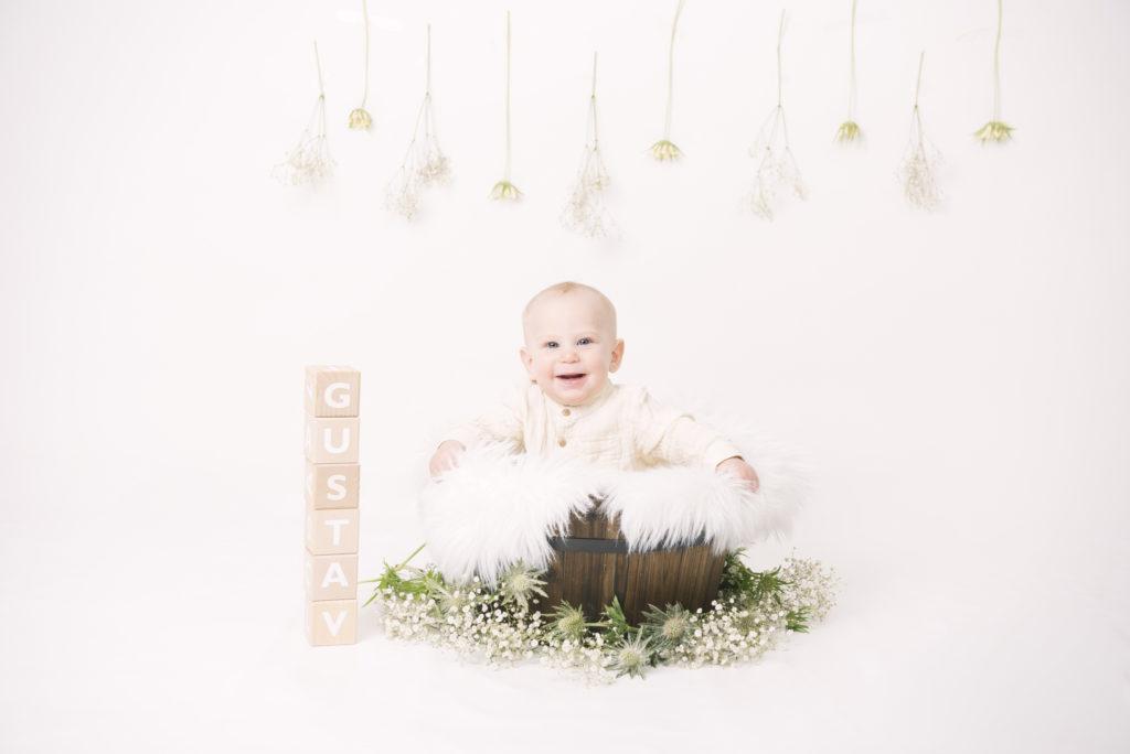 Bebisfotografering i studio Eksjö